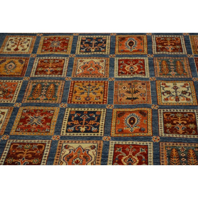 Folk Art Hand Knotted Persian Bakhtiari Wool Rug - 8′5″ × 9′9″ For Sale - Image 3 of 8