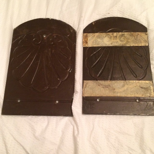 Antique Mirror Sconce Panels - Pair - Image 5 of 8
