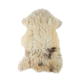 "2010's Modern Natural Sheepskin Pelt Rug - 2'0""x3'5"" For Sale"