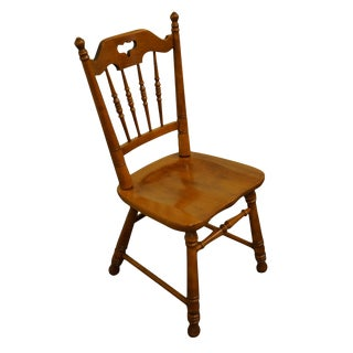 Tell City Solid Hard Rock Maple Colonial Style Dining Side Chair For Sale