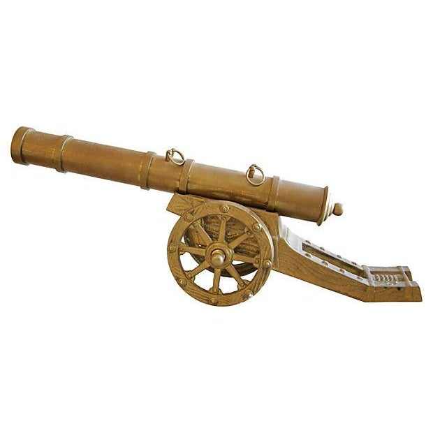 Vintage Mid-Century Brass Cannon - Image 3 of 4