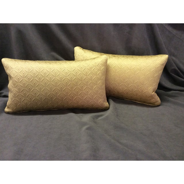 Custom Made Gold Pillows - Pair - Image 3 of 6