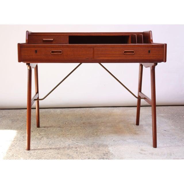 Teak and Brass 'Ladies' Desk by Arne Wahl Iversen - Image 13 of 13