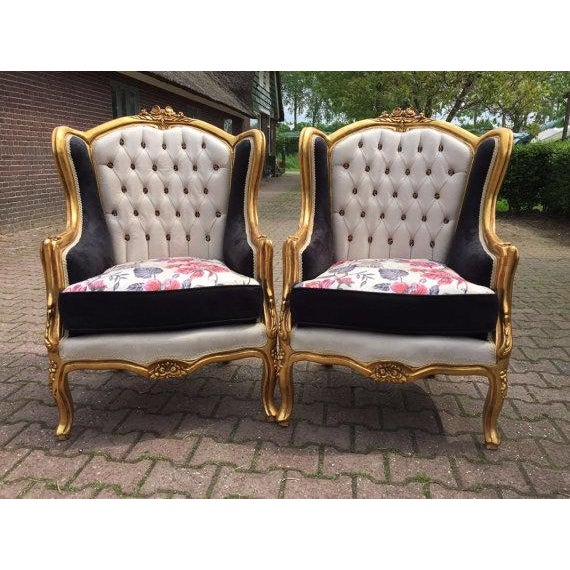 Louis XVI Style Chairs - A Pair - Image 2 of 6