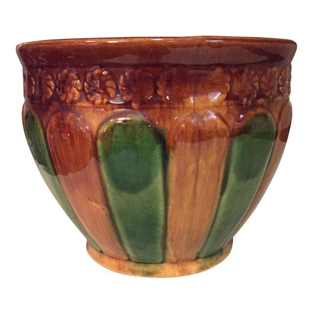 Majolica Vintage Cachepot - medium size For Sale