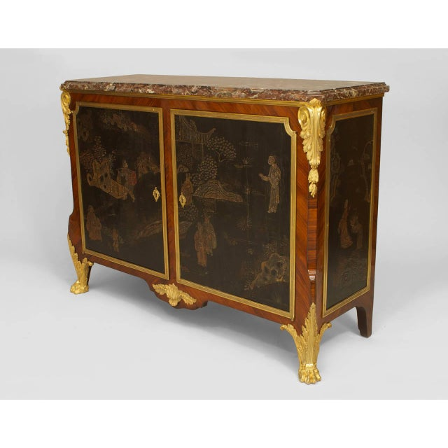 Stone 19th C. French Louis XV/XVI Style Commode Signed by Decour For Sale - Image 7 of 7