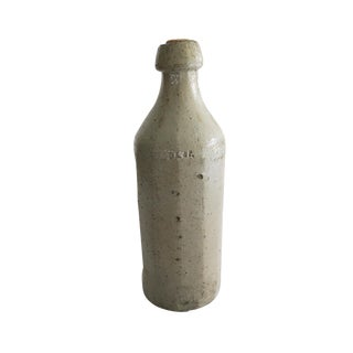 Antique Stoneware Crock Wine Bottle For Sale