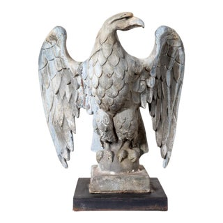 Vintage Lead Right Facing Eagle For Sale