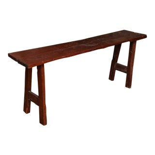 Rustic Long and Narrow Javanese Wooden Table from the 19th Century For Sale