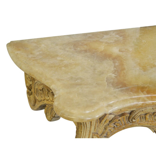 Vintage Onyx-Top French-Style Console Table - Image 3 of 6
