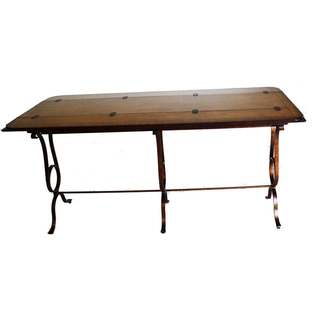 Stanley Villette Flip Top Console Table For Sale - Image 7 of 8