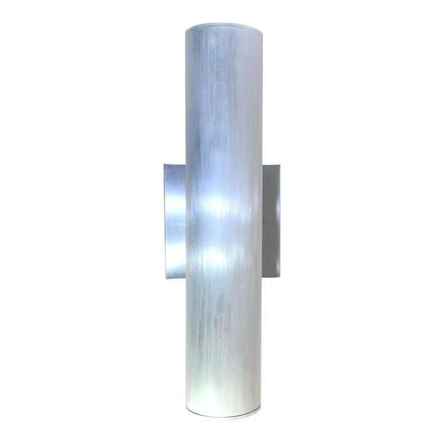Minka Skyline Outdoor Wall Light in Brushed Aluminum For Sale