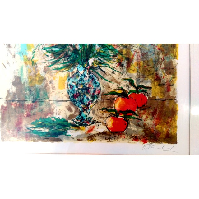 Impressionism Still Life Lithograph by Bertoldo Taubert For Sale - Image 3 of 10