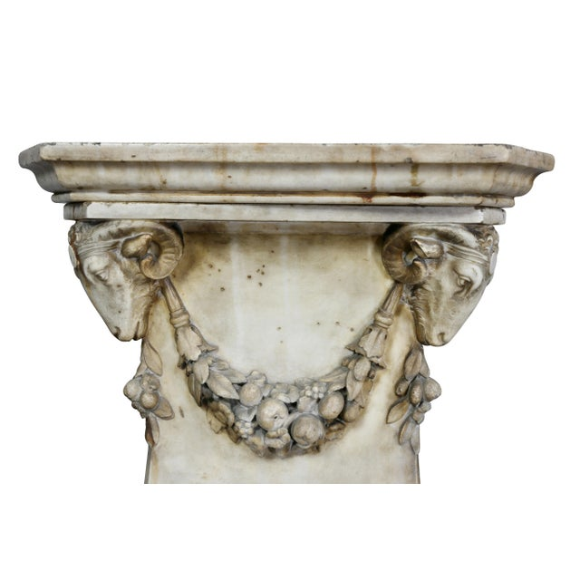 Stone Louis XVI Marble Pedestal For Sale - Image 7 of 9