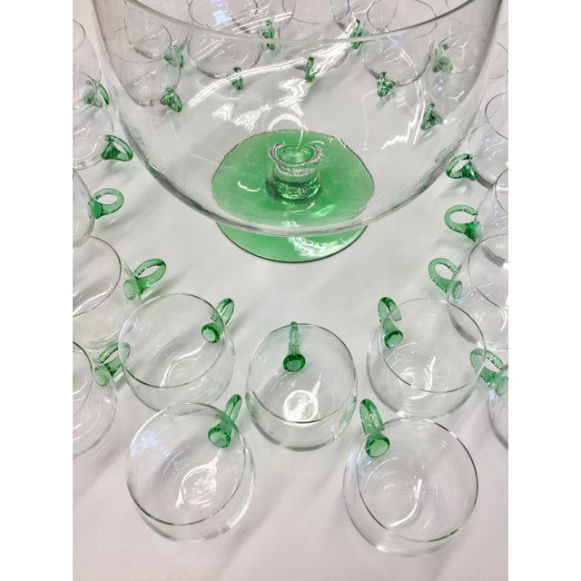 Mid Century Modern Hand Blown Glass Punch Set - 25 Pieces For Sale - Image 9 of 13