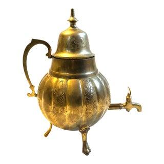 Vintage Brass Indian Samovar For Sale