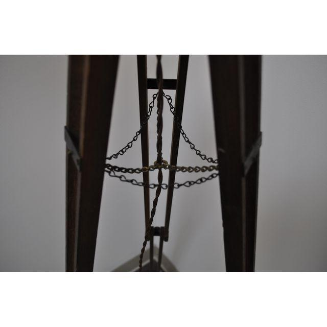 Industrial Tripod Floor Lamp For Sale - Image 4 of 5