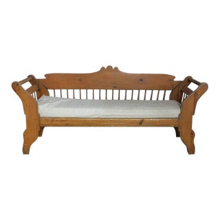 19th Century American Rustic Pine Bench or Sofa