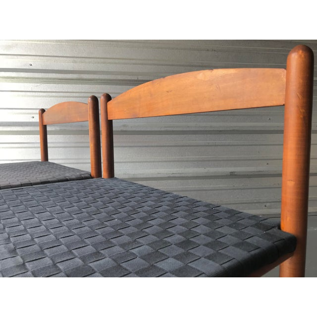 Danish Modern Danish Style Modern Woven Benches - a Pair For Sale - Image 3 of 7