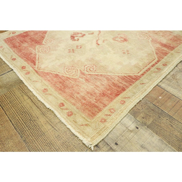 "Vintage Turkish Oushak Accent Rug - 2'5"" X 2'7"" For Sale In Dallas - Image 6 of 10"