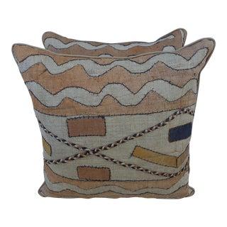 Custom Kuba Cloth Pillows - a Pair
