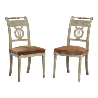 18th Century Empire Directoire Period Slipper Chairs - a Pair For Sale