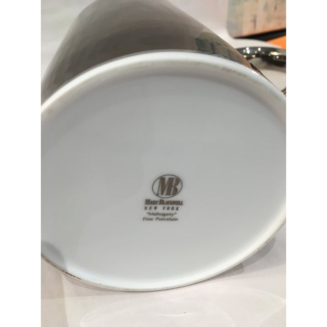 Marc Blackwell Mahogany Coffee Pot & 2 Coffee Cups - Image 6 of 7
