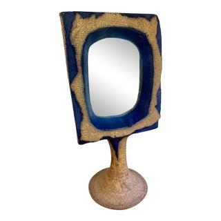 Vintage Mirror Vanity Bohemian Pedestal Table Top For Sale