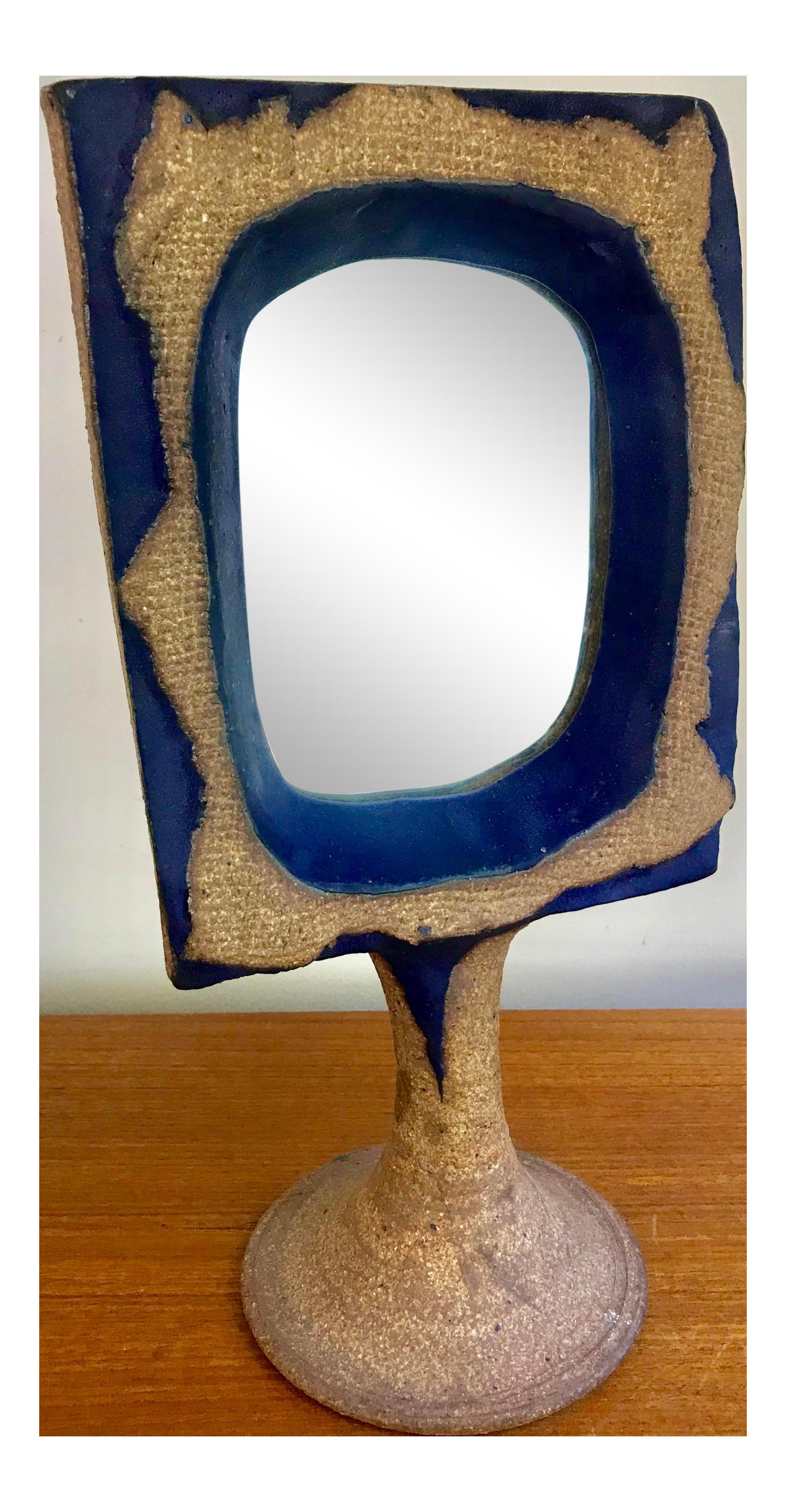 Vintage Mirror Vanity Bohemian Pedestal Table Top