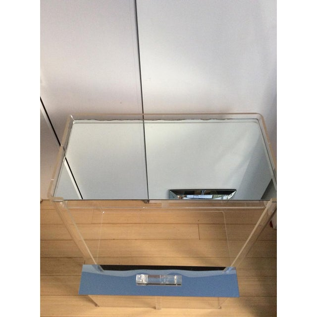 Lucite Mirrored-Drawer Vanity & Stool - A Pair - Image 5 of 13