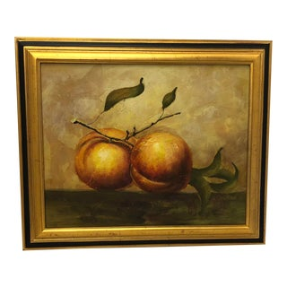 Expressionist Peaches Still Life For Sale