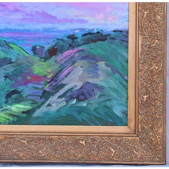 Late 20th Century Juan Guzman, Santa Barbara Landscape Seascape Oil Painting For Sale - Image 5 of 10