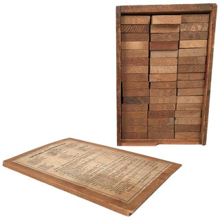 Boxed Collection of 48 American Commercial Wood Specimens For Sale