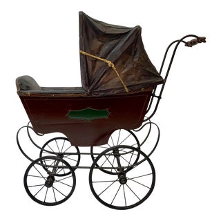 Mid 19th Century Baby Carriage / Stroller by F. A. Whitney, Leominster, Massachusetts For Sale
