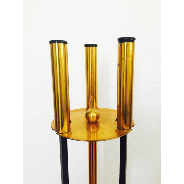 Contemporary Vintage Mid Century Fireplace Tools For Sale - Image 3 of 7