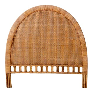 20th Century Boho Chic Rattan Headboard