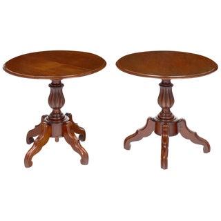 Antique Faux Louis Philippe Side Tables - A Pair