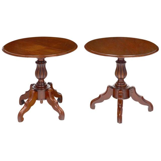 Antique Faux Louis Philippe Side Tables - A Pair For Sale