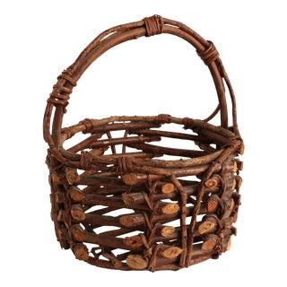 Adirondack Twig Basket For Sale