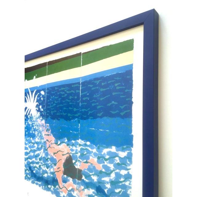 "David Hockney Rare Vintage 1994 Iconic Lithograph Print Large Framed Poster "" Le Plongeur ( Paper Pool 18 ) "" 1978 For Sale - Image 10 of 13"