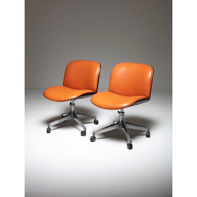 1960s Set of Two Office Chairs by Mim For Sale - Image 5 of 5