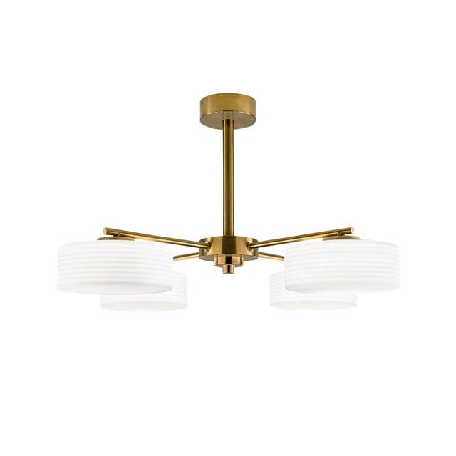 Art Deco Capri Brushed Brass Ceiling Light For Sale - Image 3 of 3