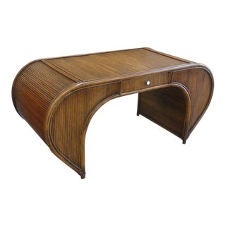 Restored Bamboo Scroll Desk