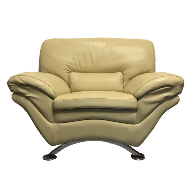 Naugahyde Atomic Club Chair - Image 1 of 10