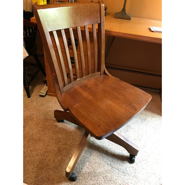 Pottery Barn Wooden Desk Chair - Image 7 of 8