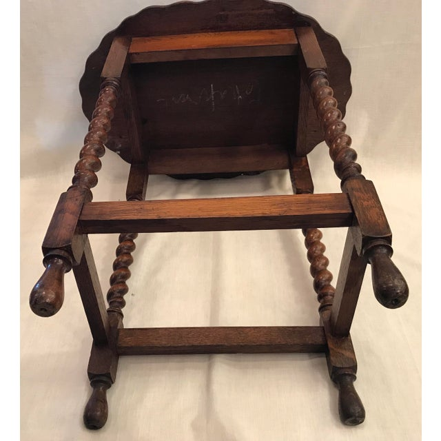 Early 20th Century Antique English Oak Side Table For Sale - Image 9 of 10
