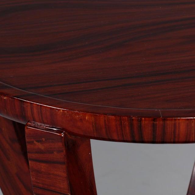 Wood Art Deco Round Palasander Table on Pedestal Base For Sale - Image 7 of 8