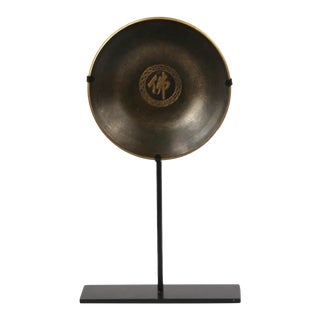 """Pure Brass """"Buddha"""" Plate With Stand For Sale"""