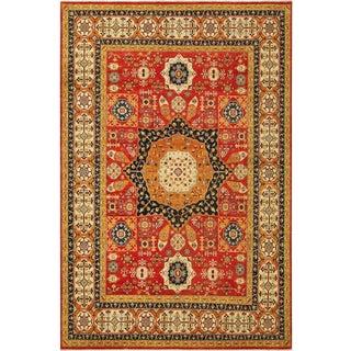 "Mamluk Roseann Red/Blue Wool Rug - 10' X 13'11"" For Sale"