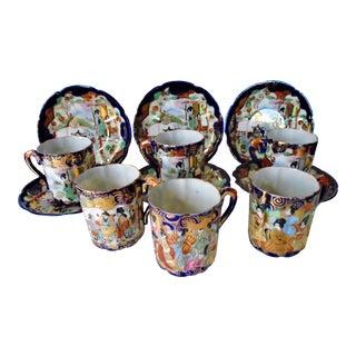 1960s Japanese Demitasse Set - Set for 6 For Sale